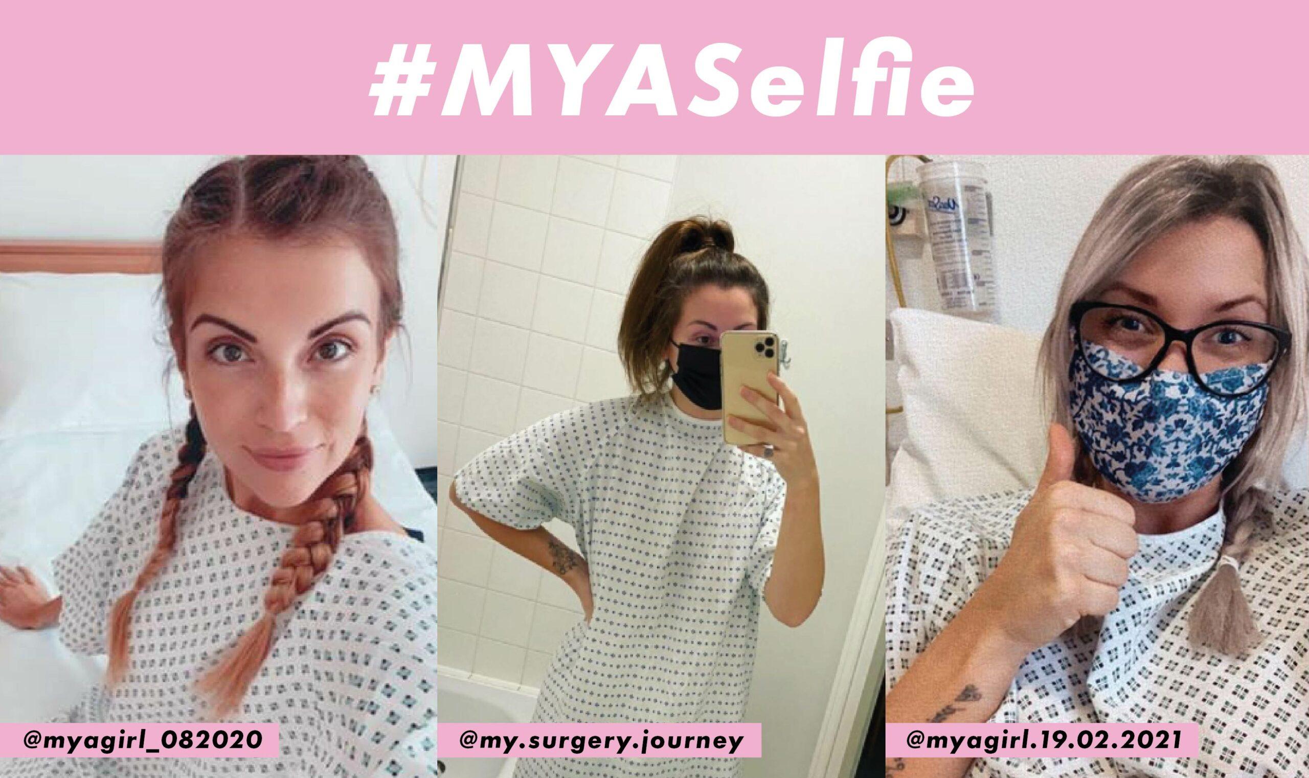 Selfies of patients taken at the MYA hospital